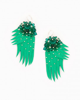 GREEN WINGS | cercei statement aripi verzi