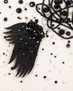 BLACK ANGEL WINGS | cercei statement aripi negri