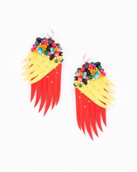 PARROT WINGS   cercei statement aripi papagal