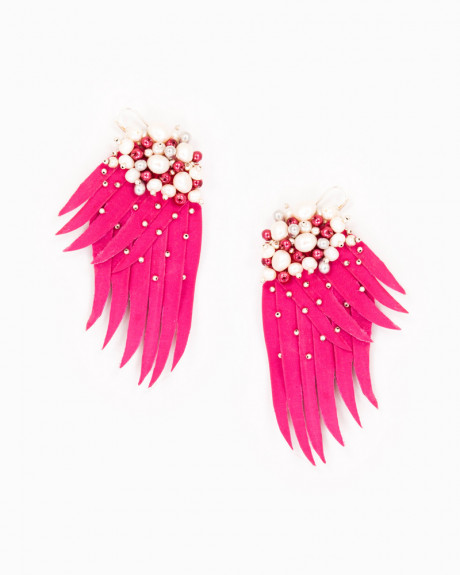 PINK WINGS | cercei statement aripi roz
