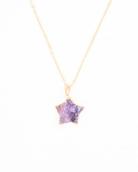 PURPLE DRUZY STAR - pandantiv agată stea