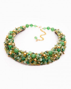 CHARMING GREEN - colier statement cu pietre semiprețioase