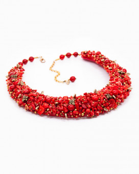 CHARMING RED | colier statement cu pietre semiprețioase