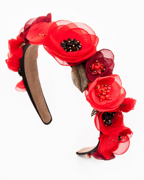 POPPY CROWN | CORONIȚĂ CU MACI PIETRE SEMIPREȚIOASE