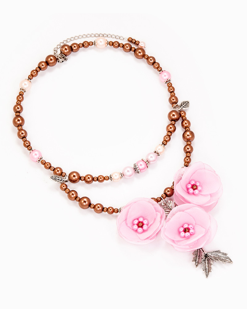 BLOOMING CHERRY | COLIER CU FLORI ROZ