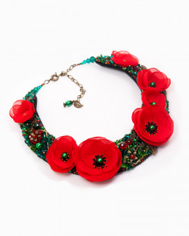POPPY OBSESSION - colier statement maci rosii