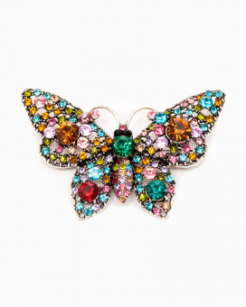 SHINY BUTTERFLY | brosa fluture multicolora