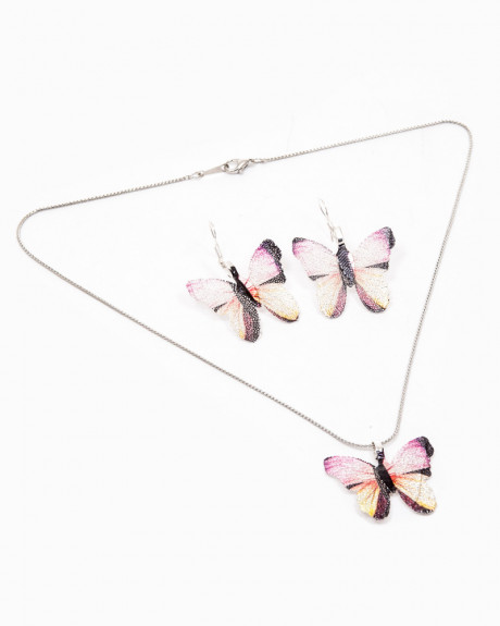 FAIRY DUST BUTTERFLY - set colier si cercei fluturasi