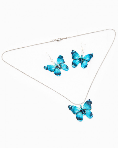 DAYDREAMER BUTTERFLY - set colier si cercei fluturasi