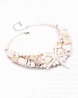 MOTHER OF PEARLS - colier statement inspiratie oceanica elemente naturale