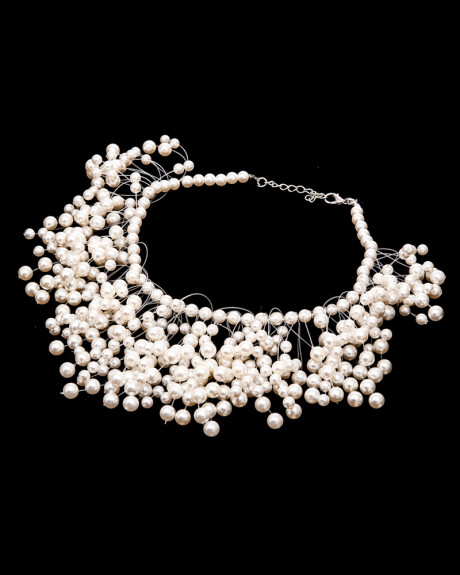 BUNDLE OF PEARLS - colier statement perle acrilice