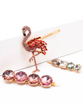 FLAMINGO MIX - set accesorii par flamingo cristale