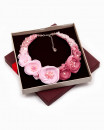 BLOOMING PINK   colier statement floral roz