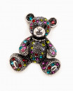 TEDDY BEAR LOVE - brosa ursulet multicolor cristale incrustate