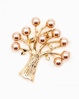 GOLDEN TREE OF PEARLS - brosa copacel perle